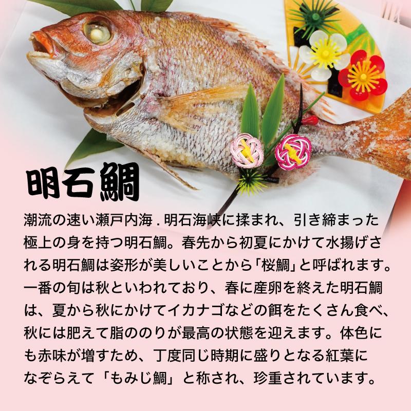 明石鯛が入ったお食い初めセット